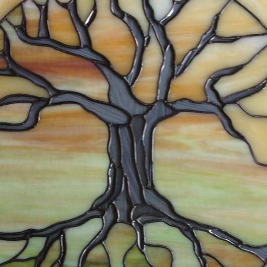 Tree Of Life At Sunset Stained Glass, Stained Glass Trees Images