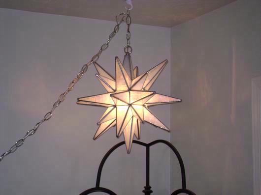 26 Point Moravian Star Hanging Lamp