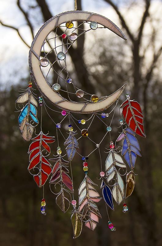 Quot Moon Shadow Quot Dreamcatcher In Glass Delphi Artist Gallery