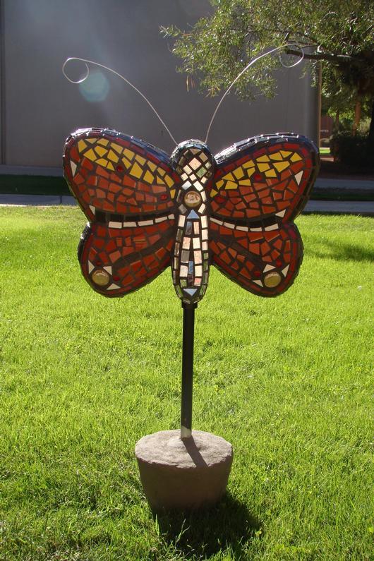 3d Mosaic Sculpture Butterfly Delphi Artist Gallery