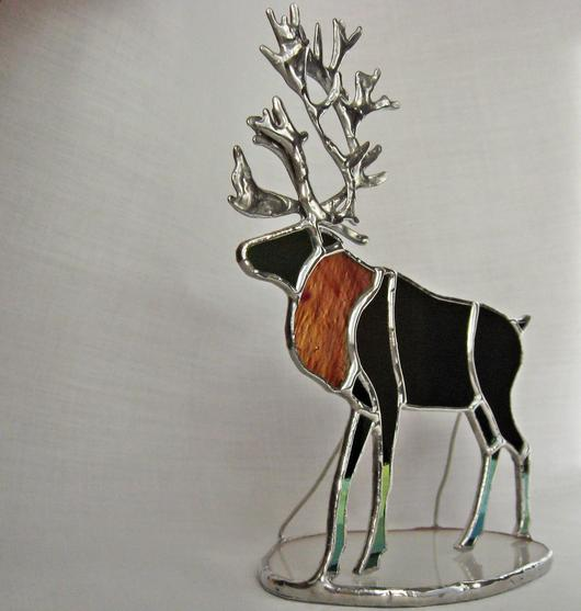 Standing Stained Glass Reindeer Delphi Artist Gallery