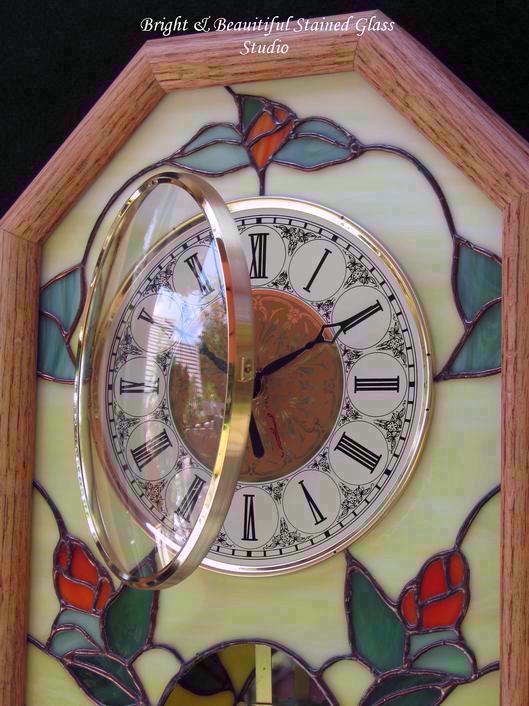 Rambling Rose Pendulum Case Wall Clock Delphi Artist Gallery