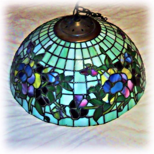 Swag tiffany style pansy lamp shade delphi artist gallery swag tiffany style pansy lamp shade aloadofball Images