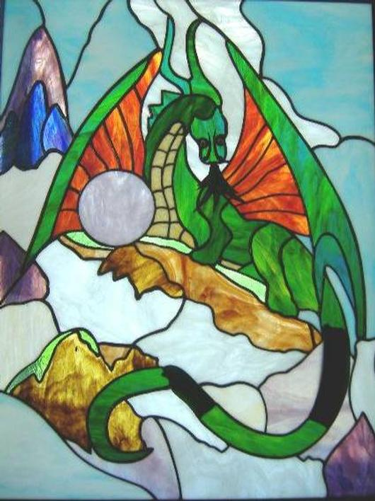 Dragon Stained Glass Panel Delphi Artist Gallery
