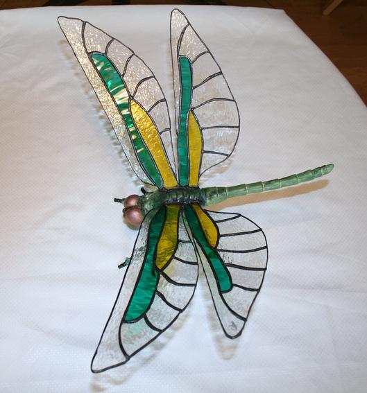 DRAGONFLY STAINED GLASS PATTERNS FREE