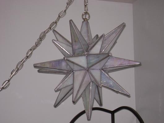 26 Point Moravian Star Hanging Lamp - Delphi Artist Gallery