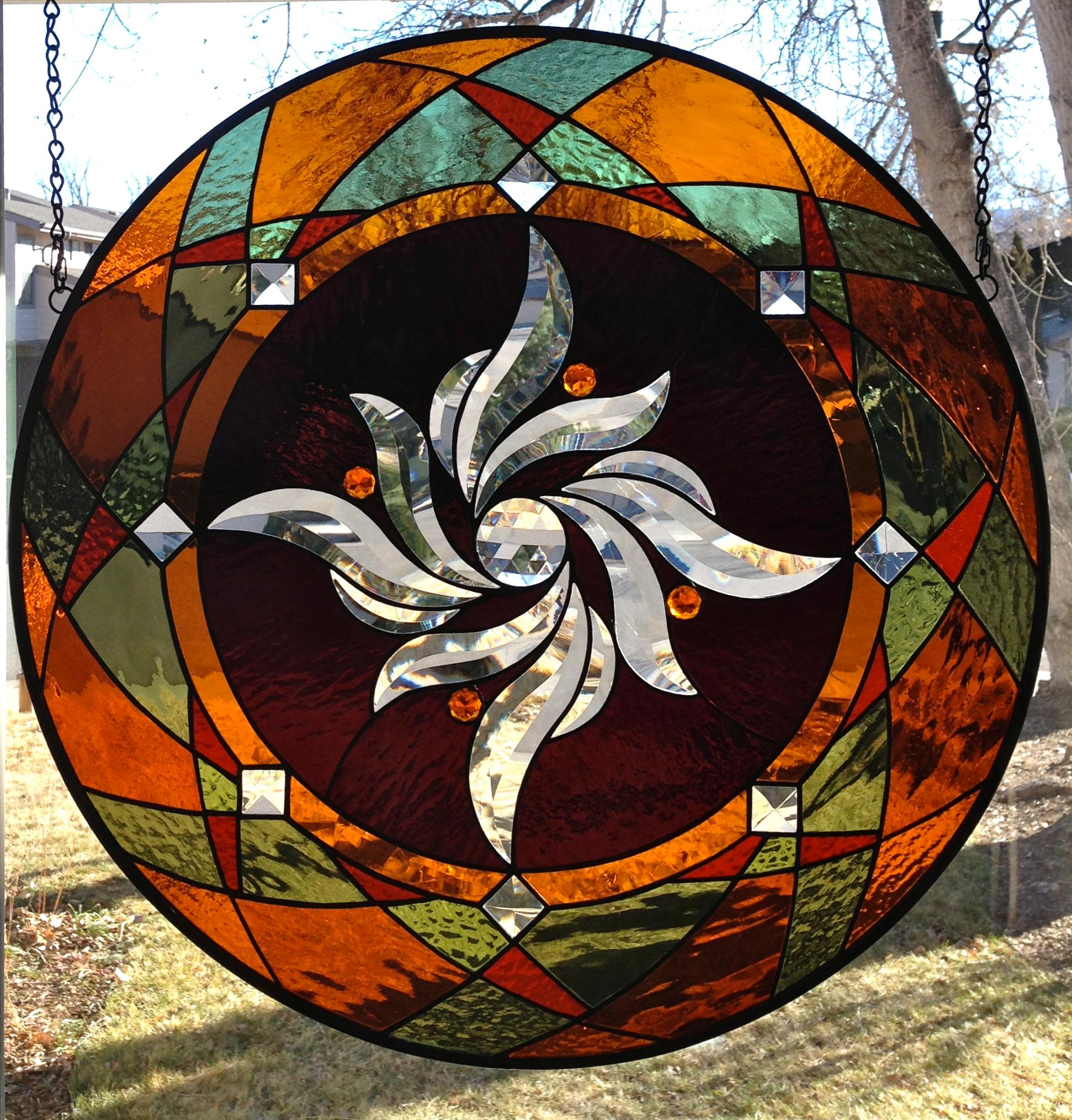 Round Stained Glass Window Panel Delphi Artist Gallery