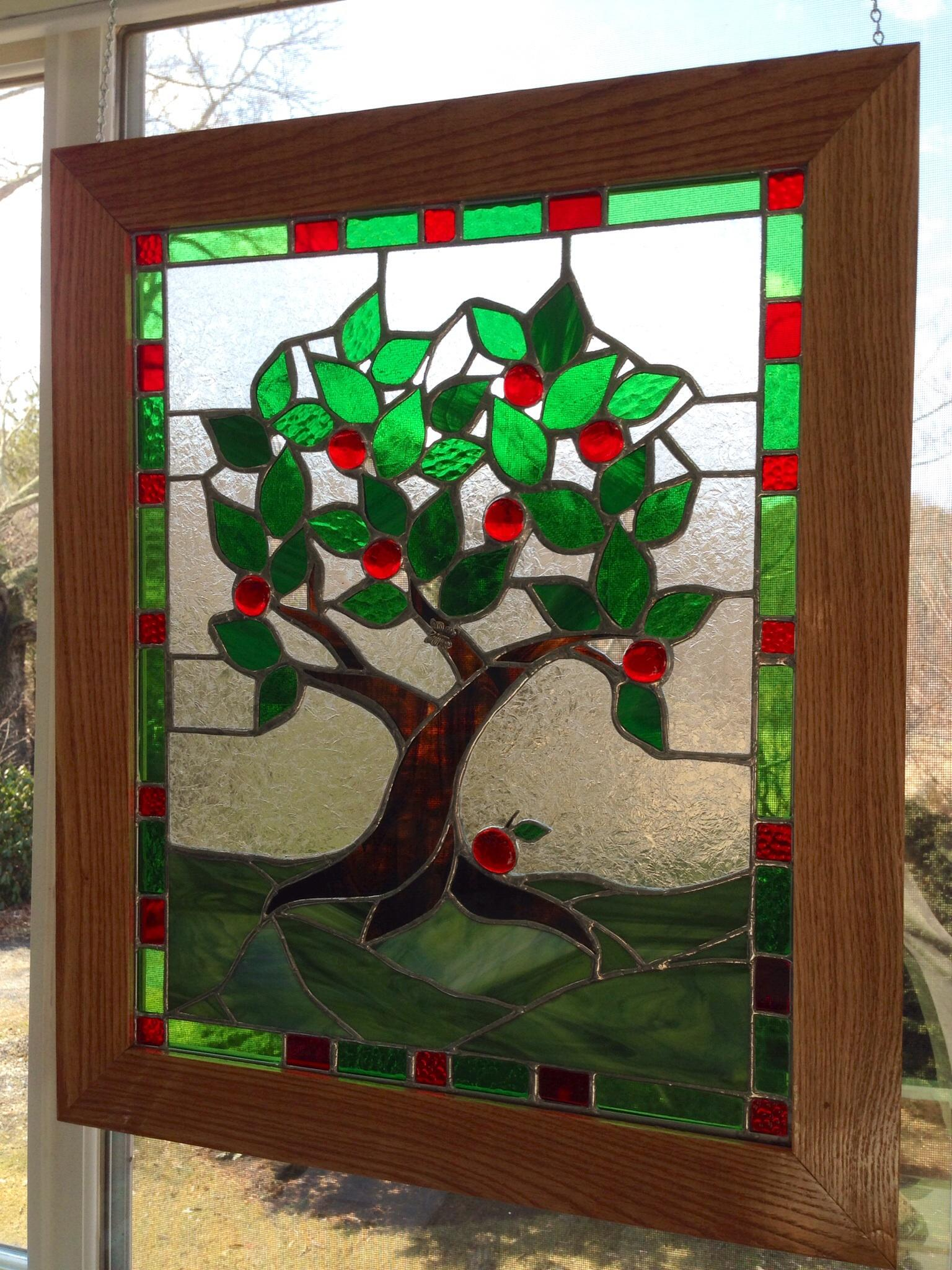 Quot Apple Time Quot Stained Glass Panel Delphi Artist Gallery
