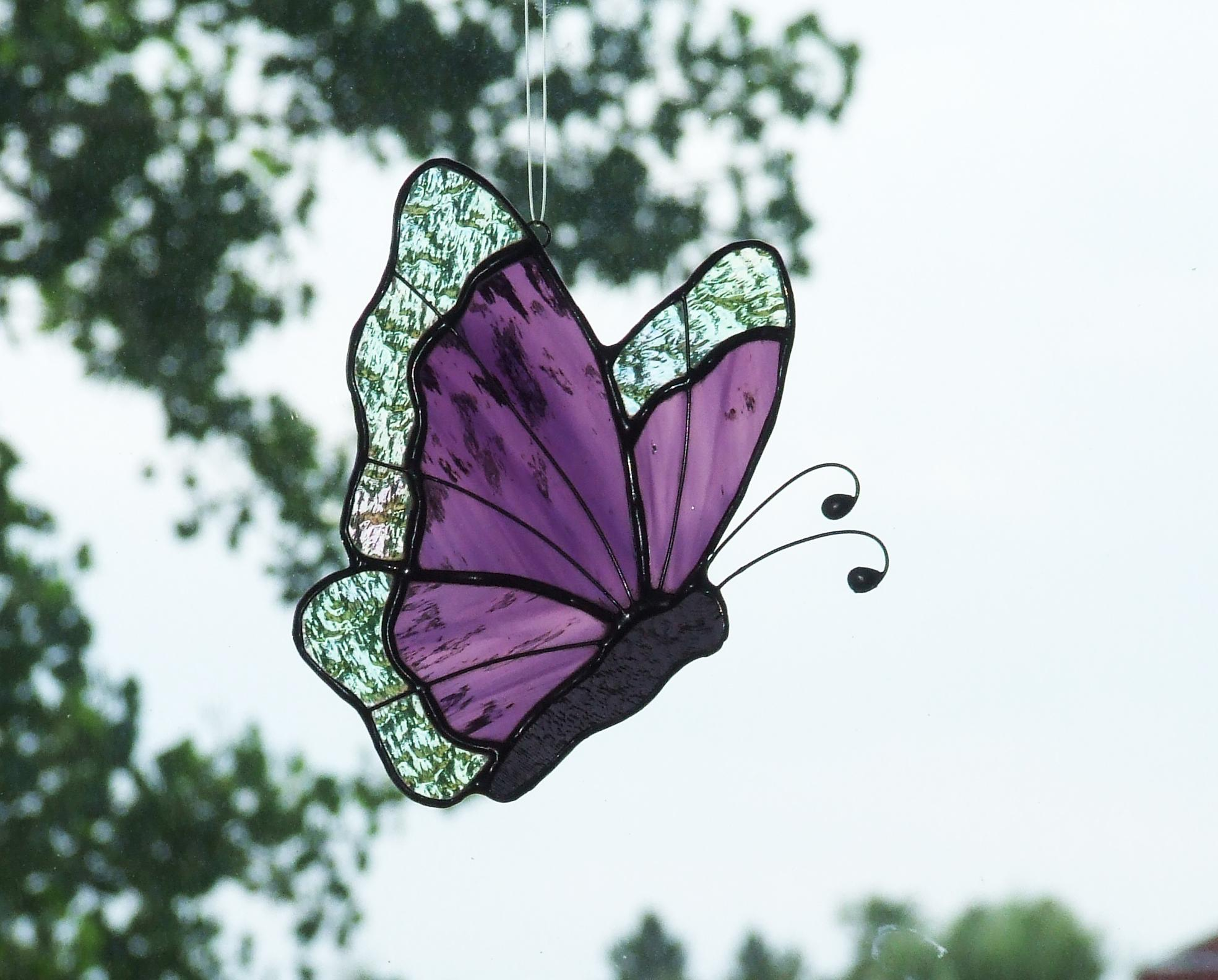 Butterflies delphi artist gallery for Butterfly stained glass craft