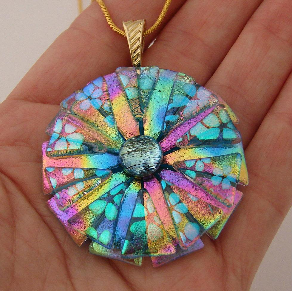 Picasso Style Dichroic Glass Pendant Delphi Artist Gallery
