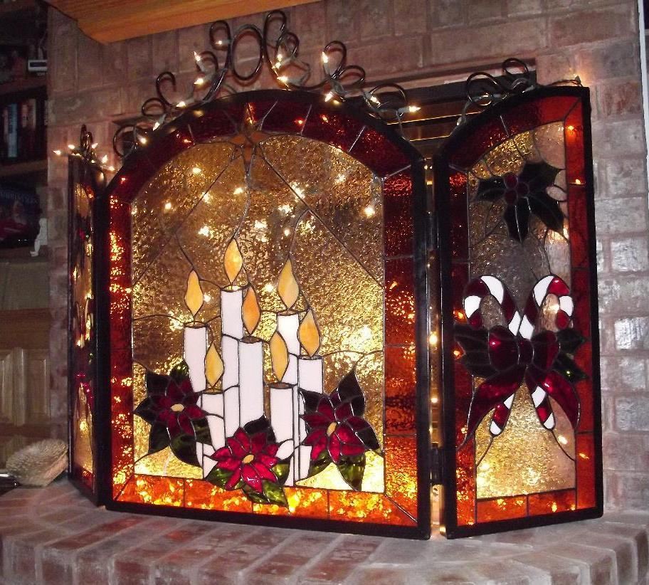 Holiday Fireplace Screen - Delphi Artist Gallery