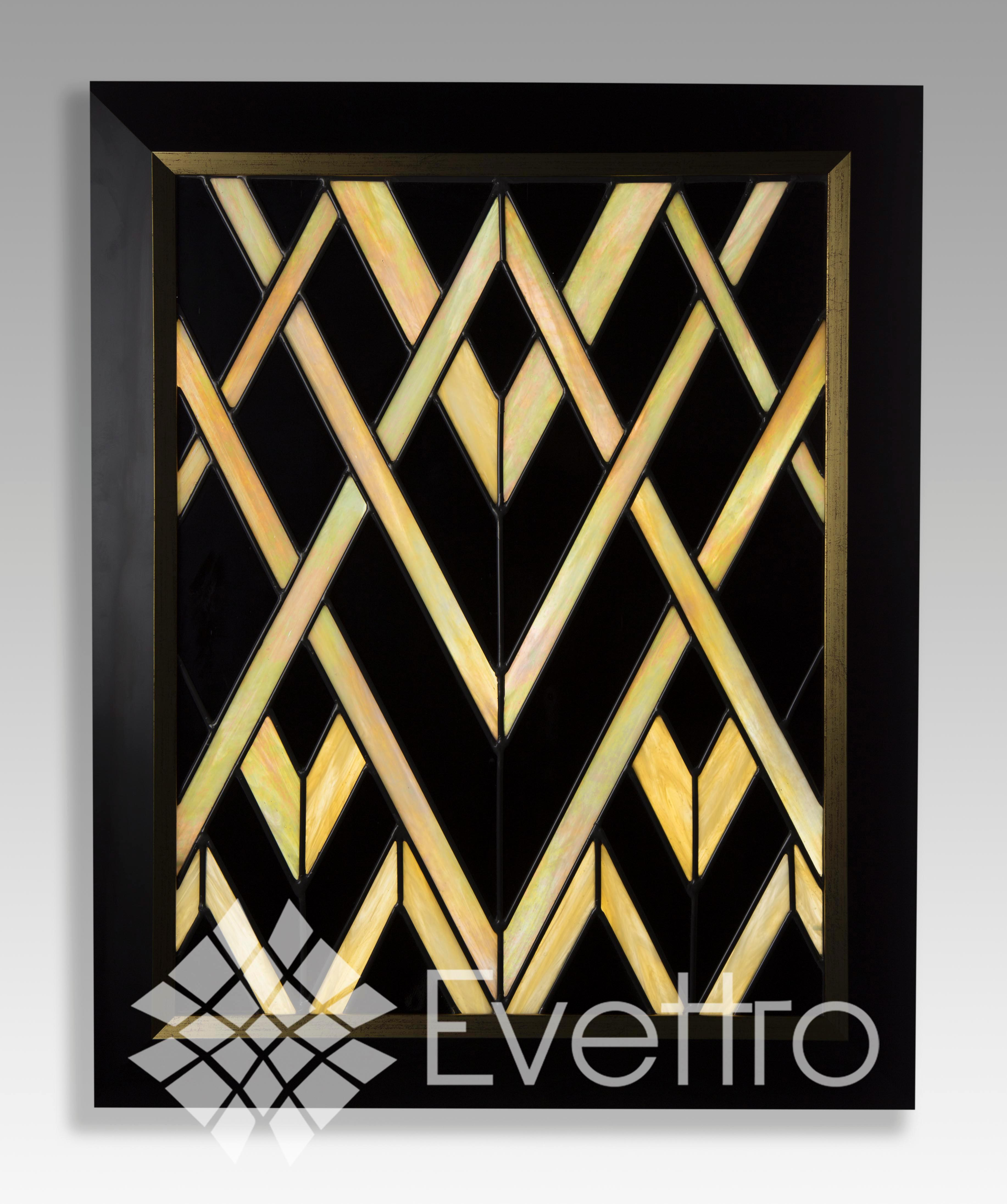 gatsby art deco stained glass panel delphi artist gallery. Black Bedroom Furniture Sets. Home Design Ideas