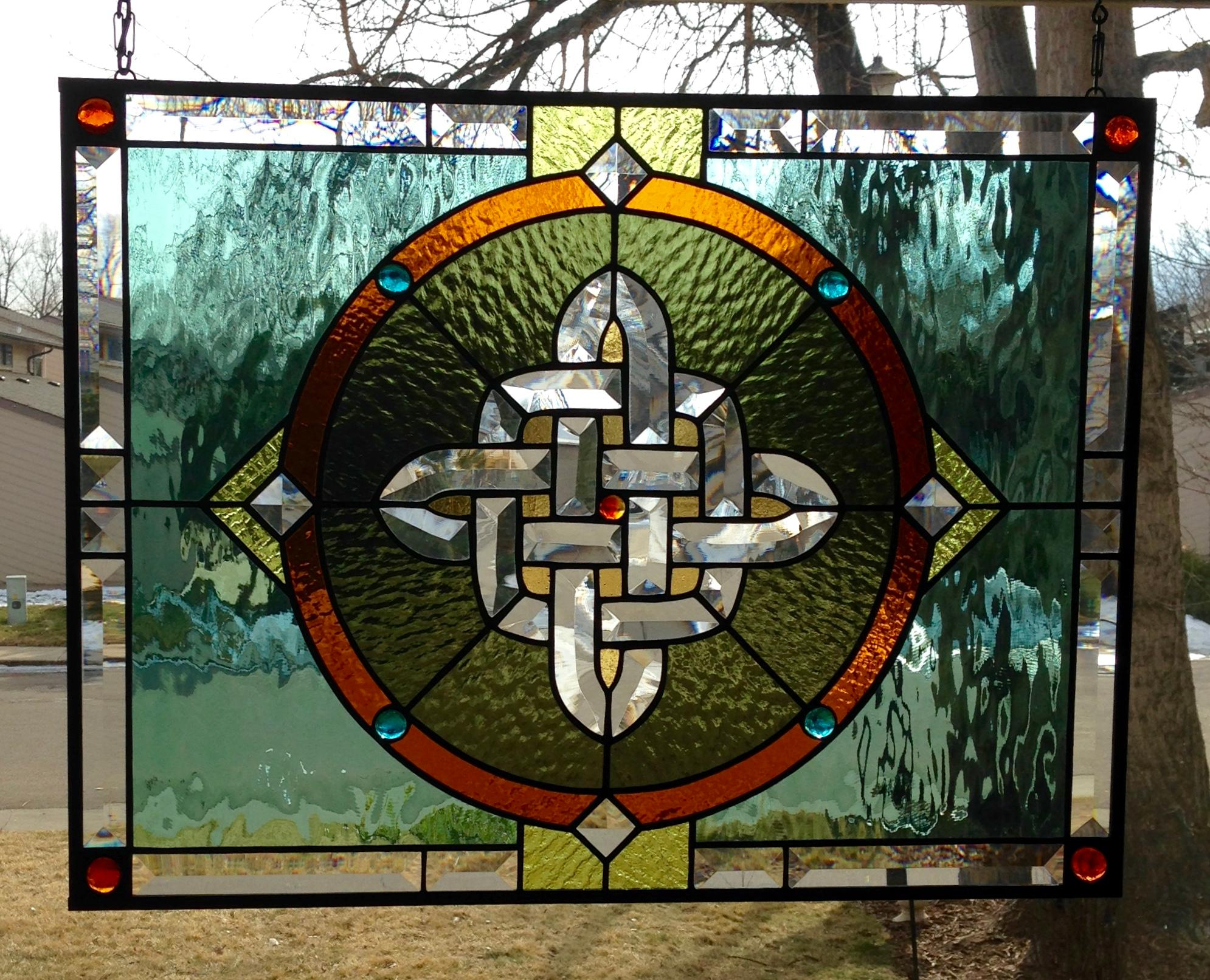 Celtic Knot Stained Glass Panel - Delphi Artist Gallery