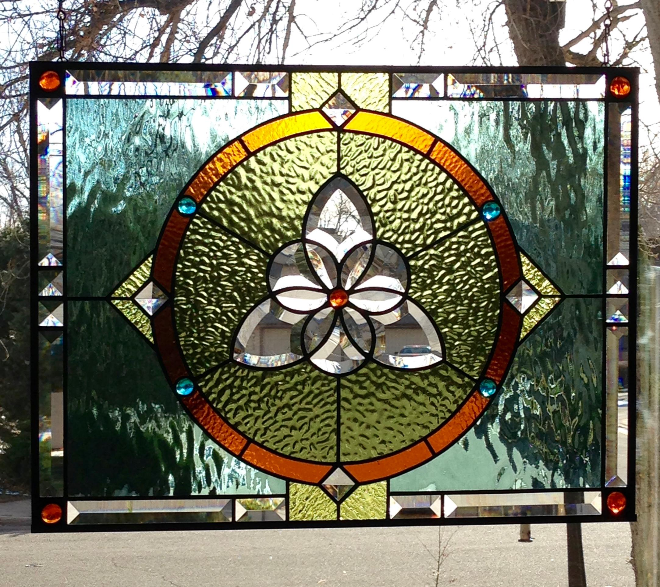 Tri-Circle Celtic Stained Glass Panel - Delphi Artist Gallery