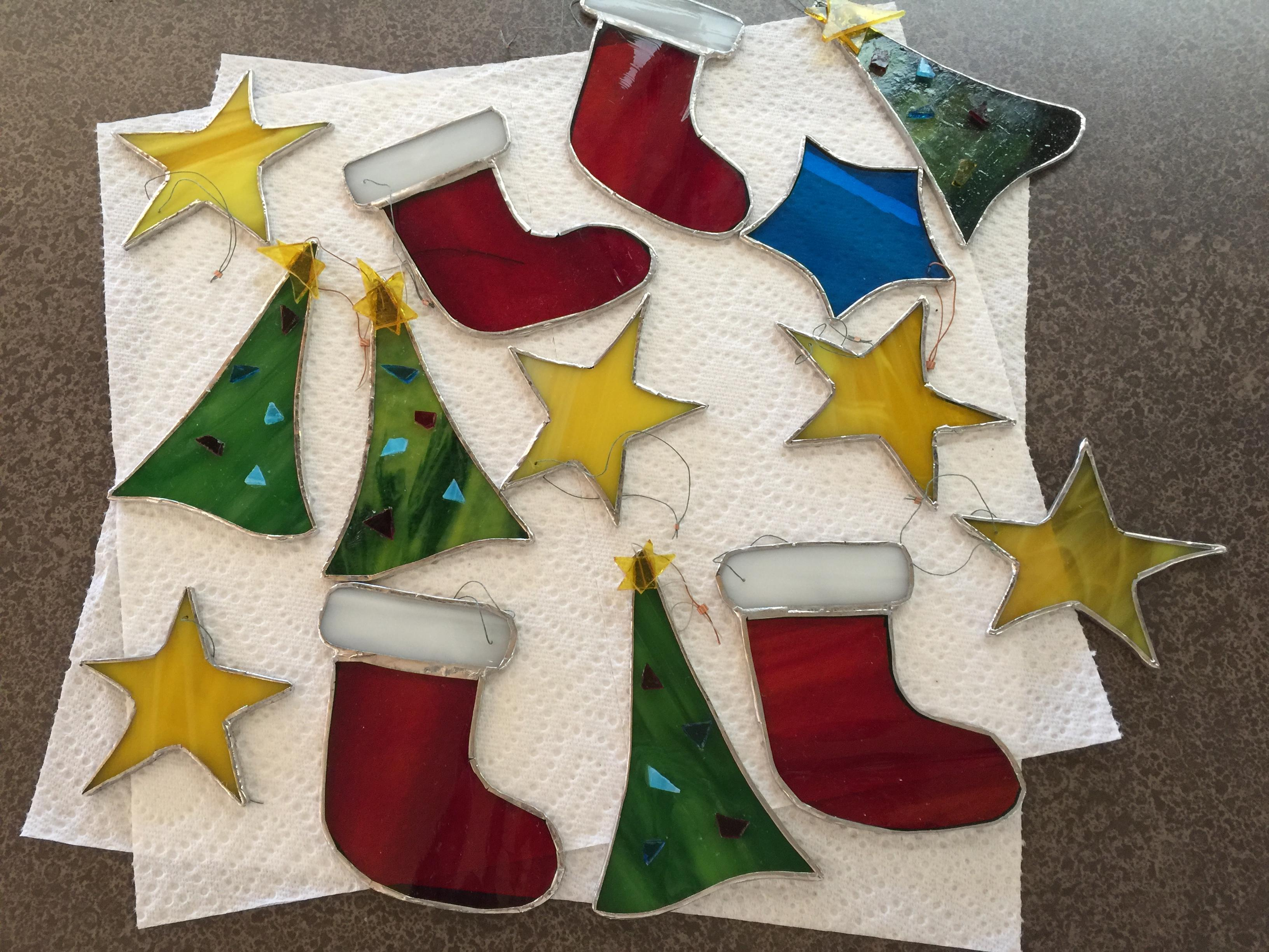 Stained Glass Christmas Ornaments Delphi Artist Gallery