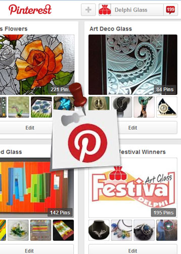 Art Glass Pinterest Winners board