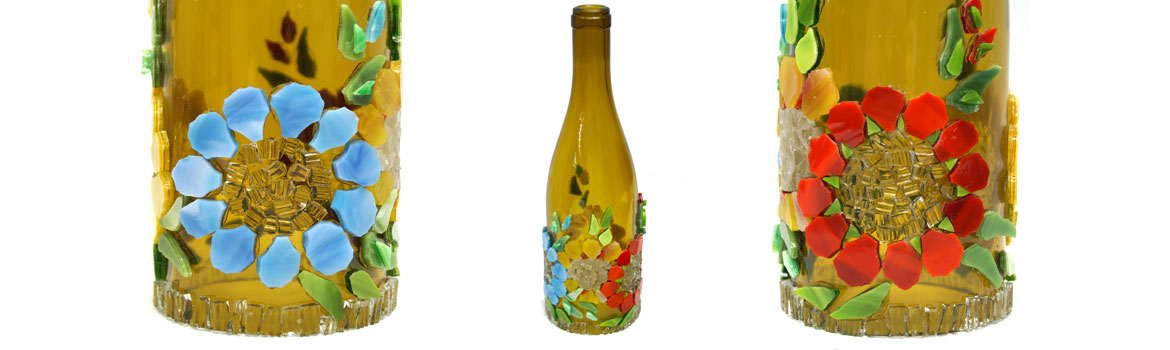 Mosaic Bottle Lantern Workshop with Julie Haan Class Details