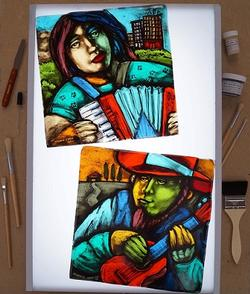 Glass Painting and Vitri-Fusaille Technique Class Details