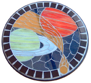 How to Make a Stained Glass Mosaic ~ painting on glass