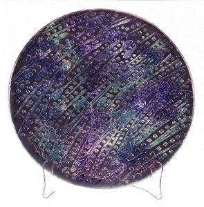 Green & Purple Enamel Circle