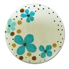 Polka Dots and Posies Plate