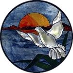 Flying Dove Beveled Panel