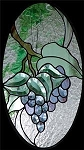 Grapes Beveled Panel