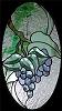 Grapes Beveled Panel