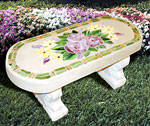 Mosaic Flower Bench