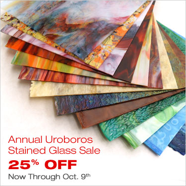 Annual Uroboros Stained Glass Sale. 25% Off Now Through Oct. 9th
