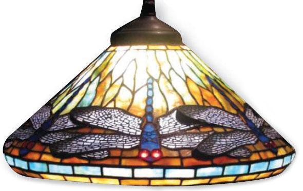 16 Quot Dragonfly Cone Pattern With Filigree Worden Lamp System