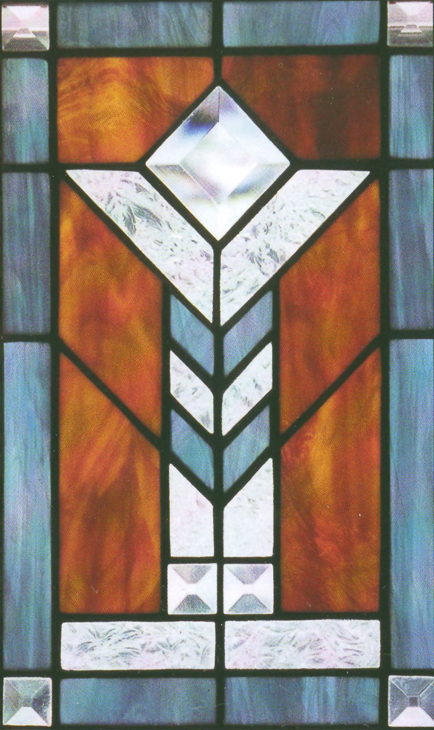 Single Glue Chip Stained Glass Sheets Clear Textured Delphi