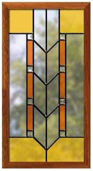 Prairie Style Panels Traditional Windows Doors Delphi Glass