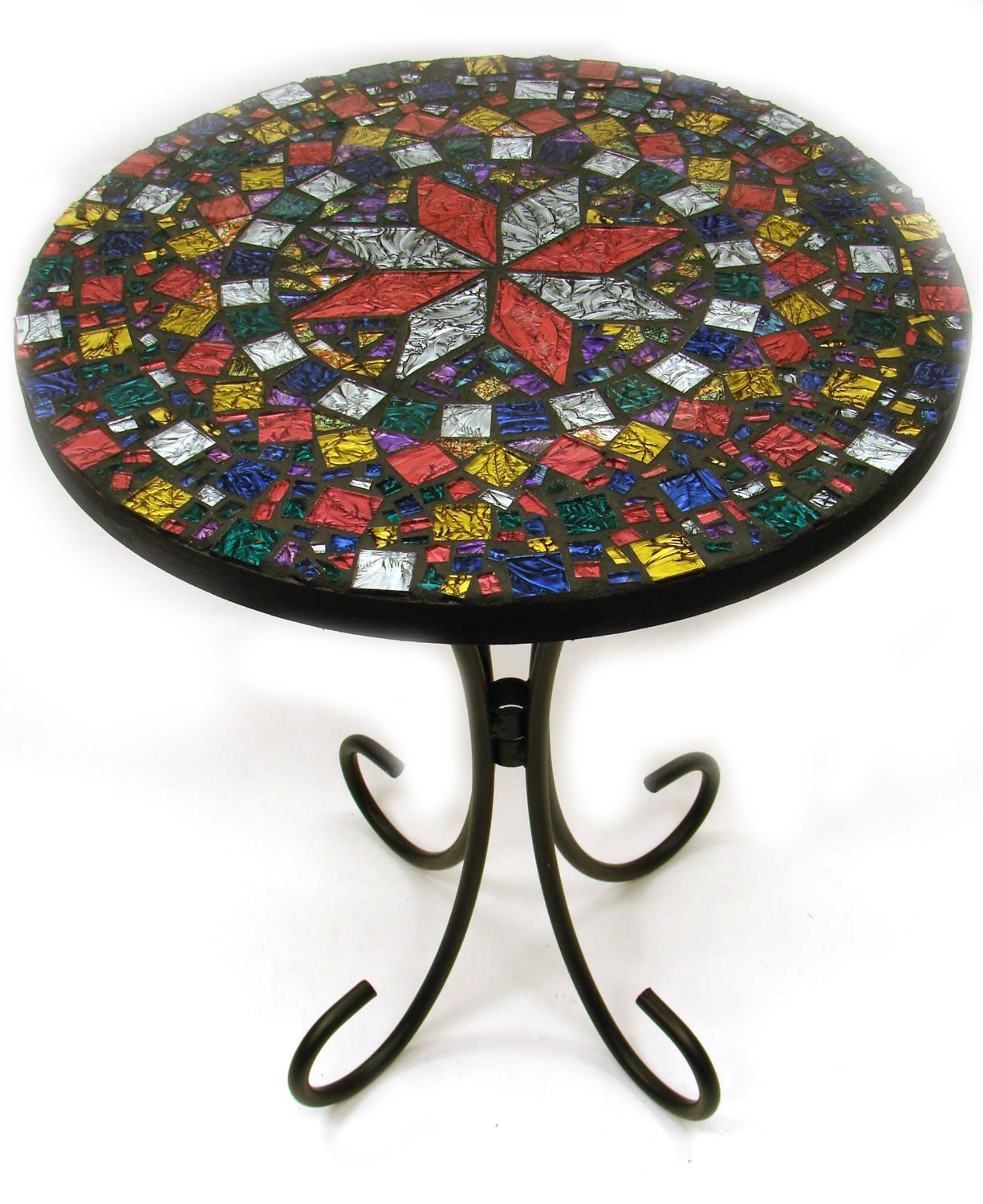 16 Quot Round Mosaic Table Top Items Delphi Glass