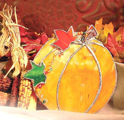 Free Pumpkin Suncatcher Project Instructions Holiday