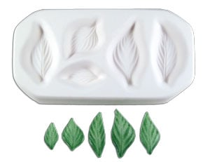 Assorted Small Leaves Mold Colour de Verre Glass Fusing Mold