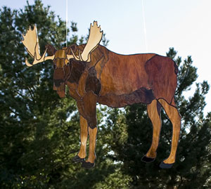 Obsession Pre Cut Bull Moose Kit Art Glass