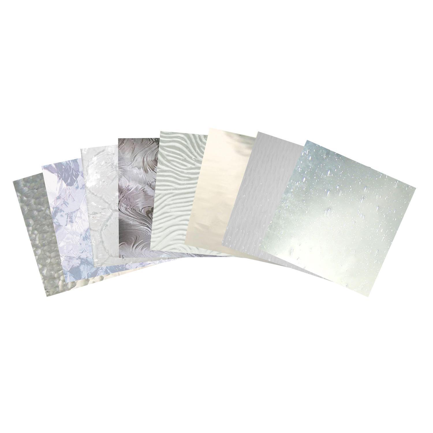 Clear texture architectural glass pack stained sheets for Clear glass texture