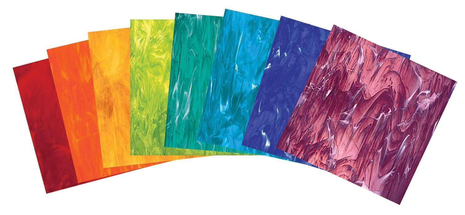 Summer Stained Glass Pack Sheets Delphi Glass