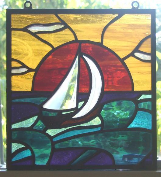 Nautical Stained Glass Pack Sheets Delphi Glass