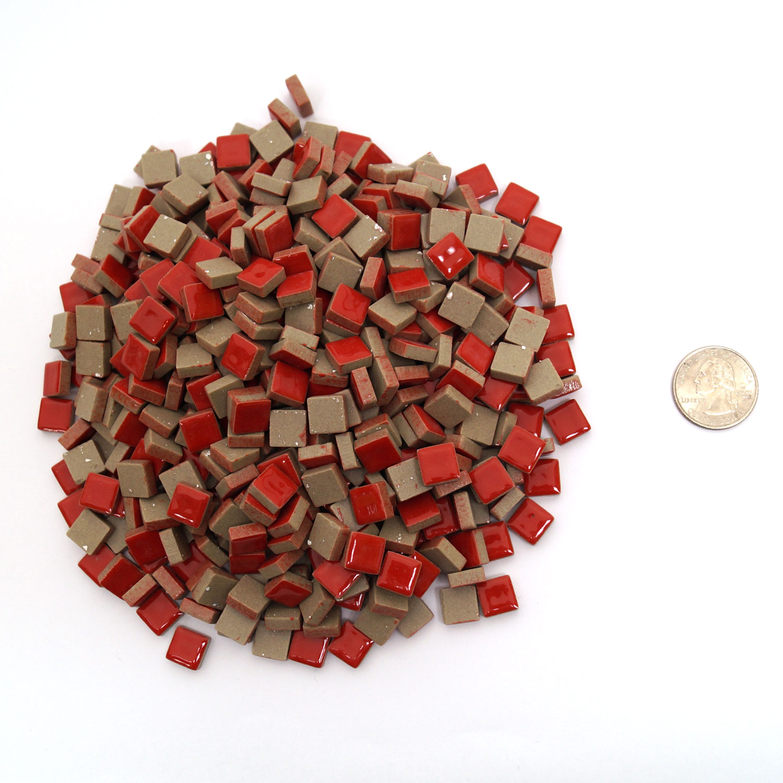 3 8 Red Stone : Quot red ceramic tile lb stone delphi glass