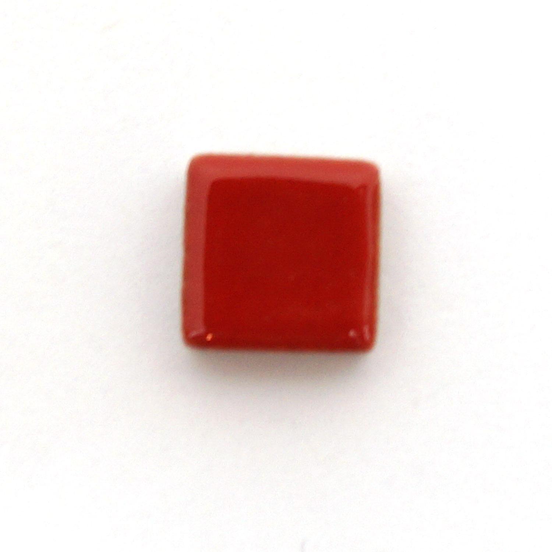 3 8 Red Ceramic Tile 1 Lb Stone Delphi Glass