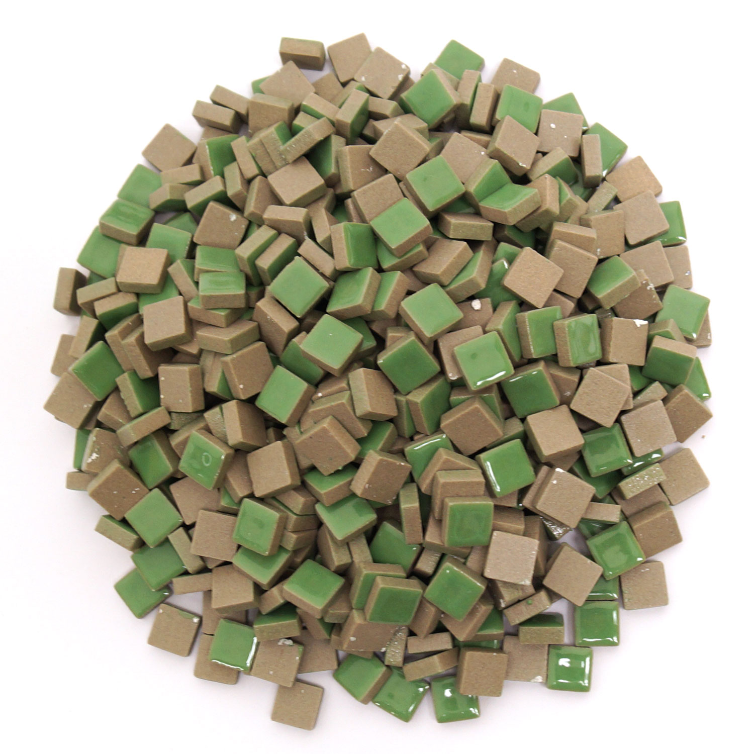 3 8 Green Ceramic Tile 1 Lb Stone Delphi Glass