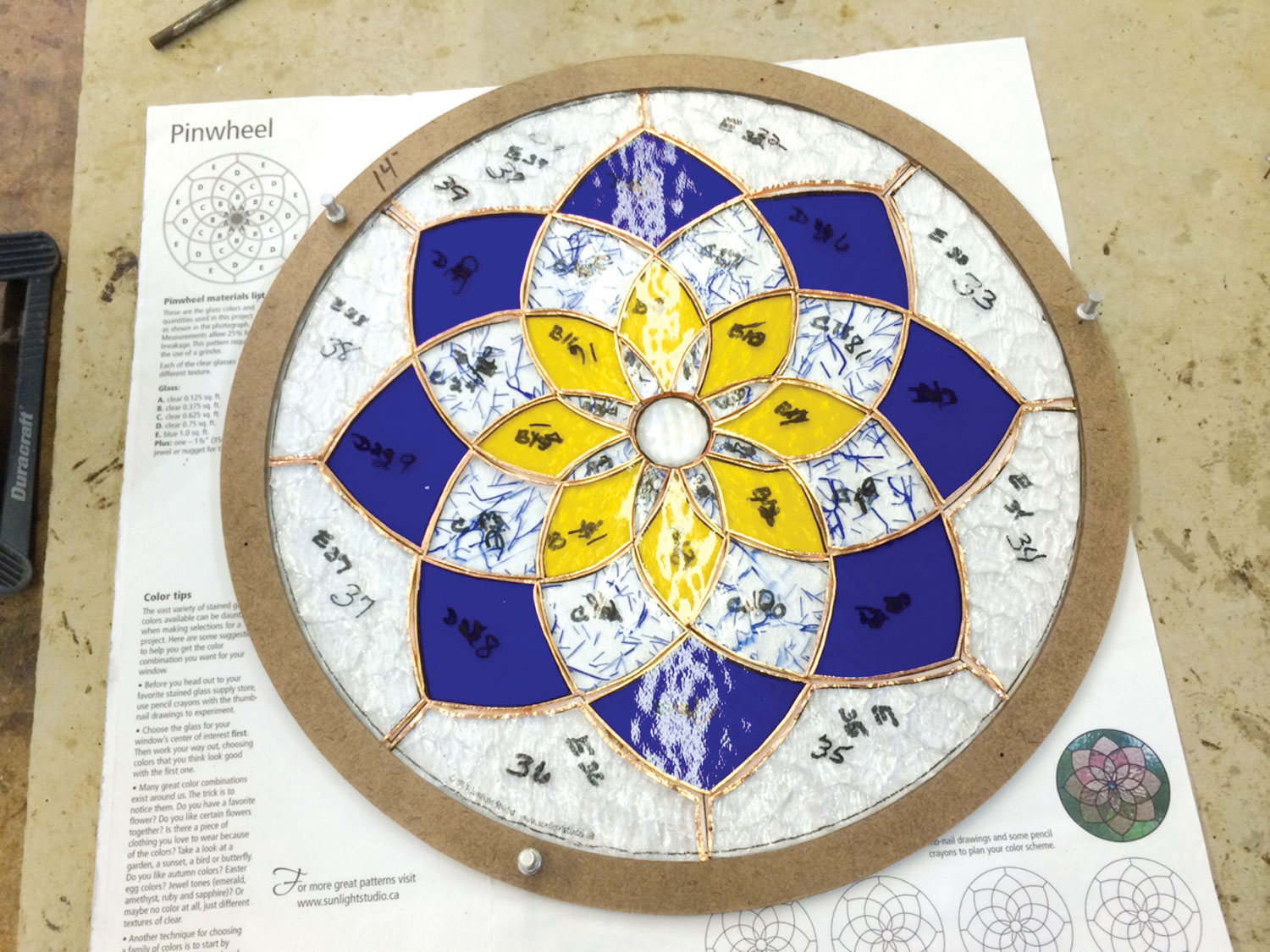 """8"""" Circle Layout Frame   Assembly Tools Delphi Glass"""