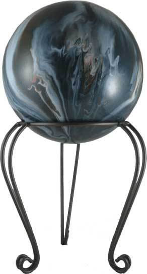 Garden Stand Globe Holder Displays Delphi Glass