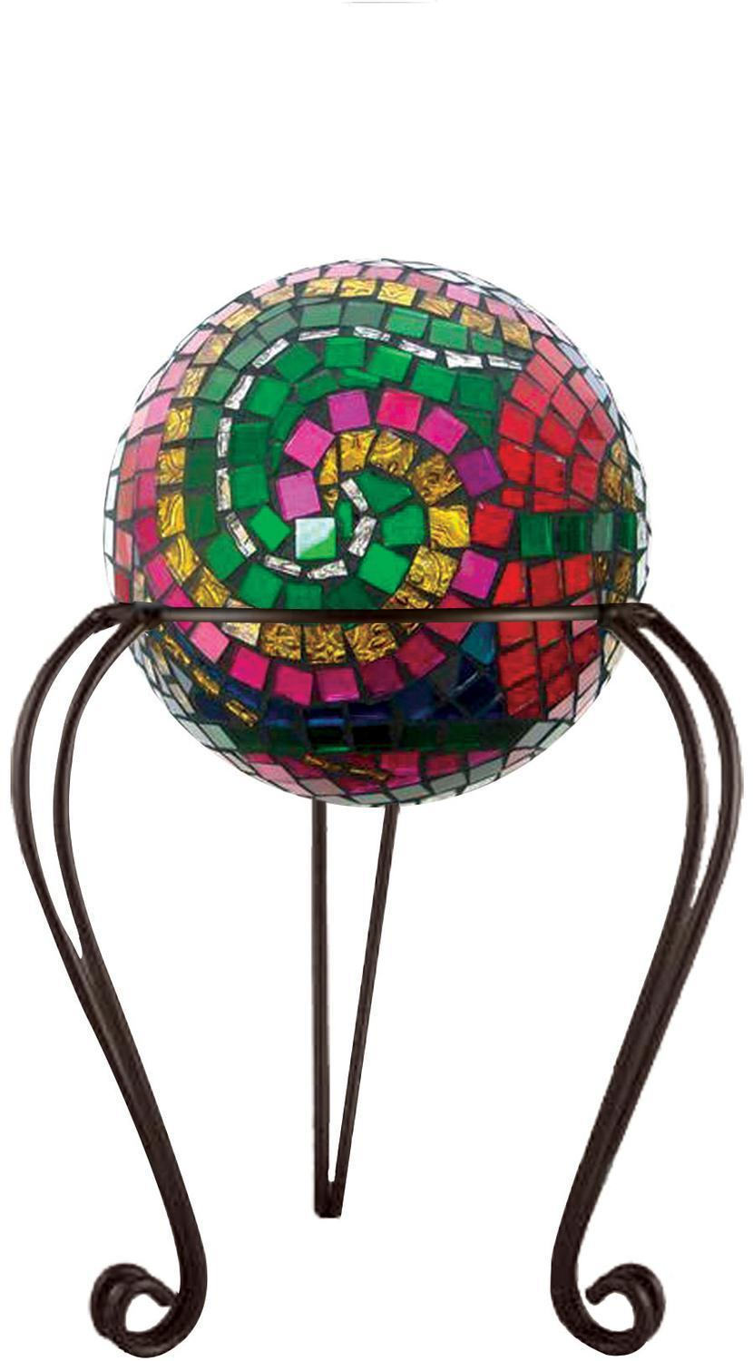 Garden Stand Globe Holder Displays Delphi Glass