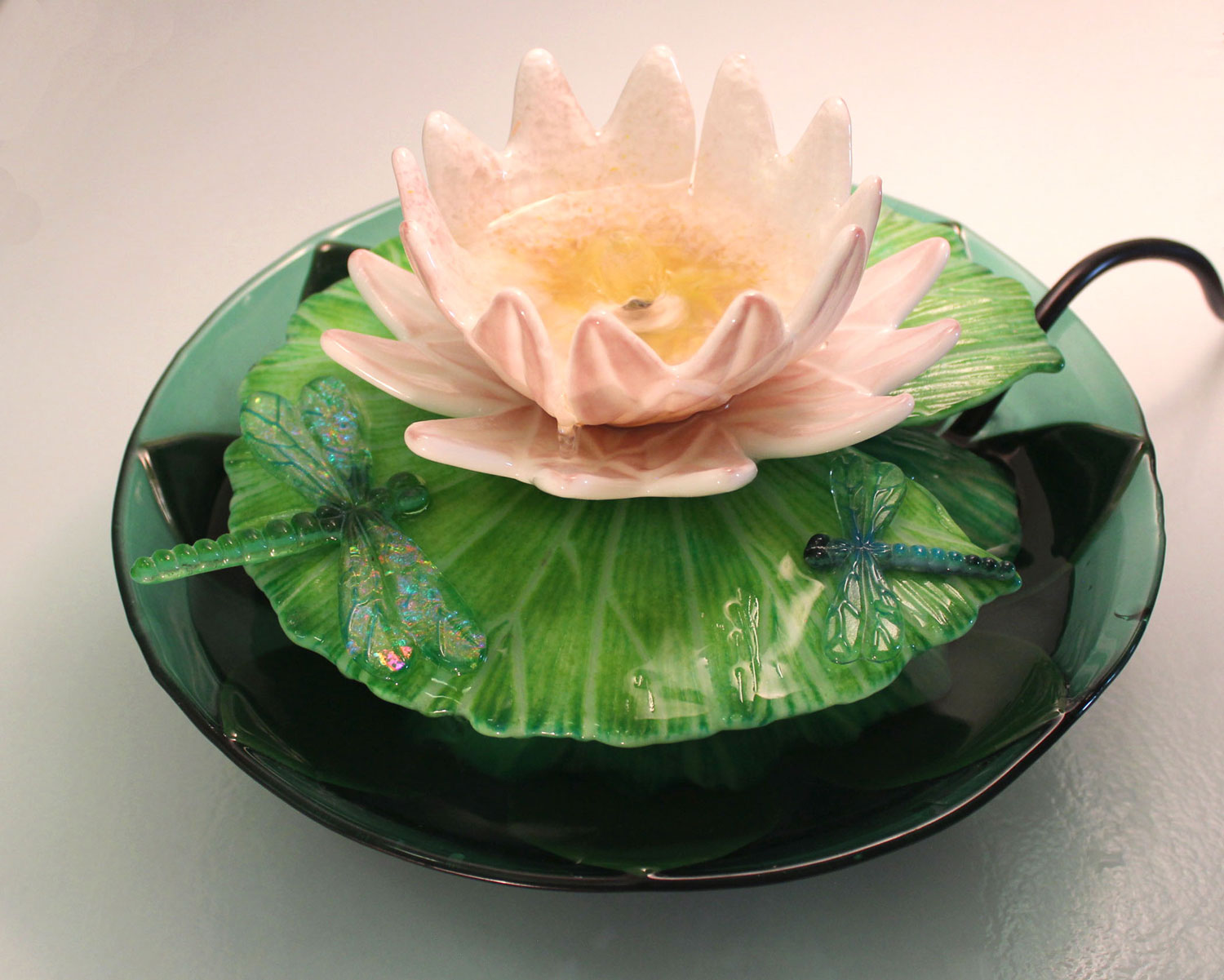 Lotus Flower Casting Mold Glass