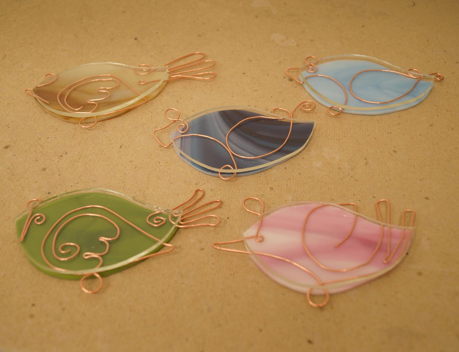 Free Spring Birds 2 Ways Project Guide Patterns Delphi Glass