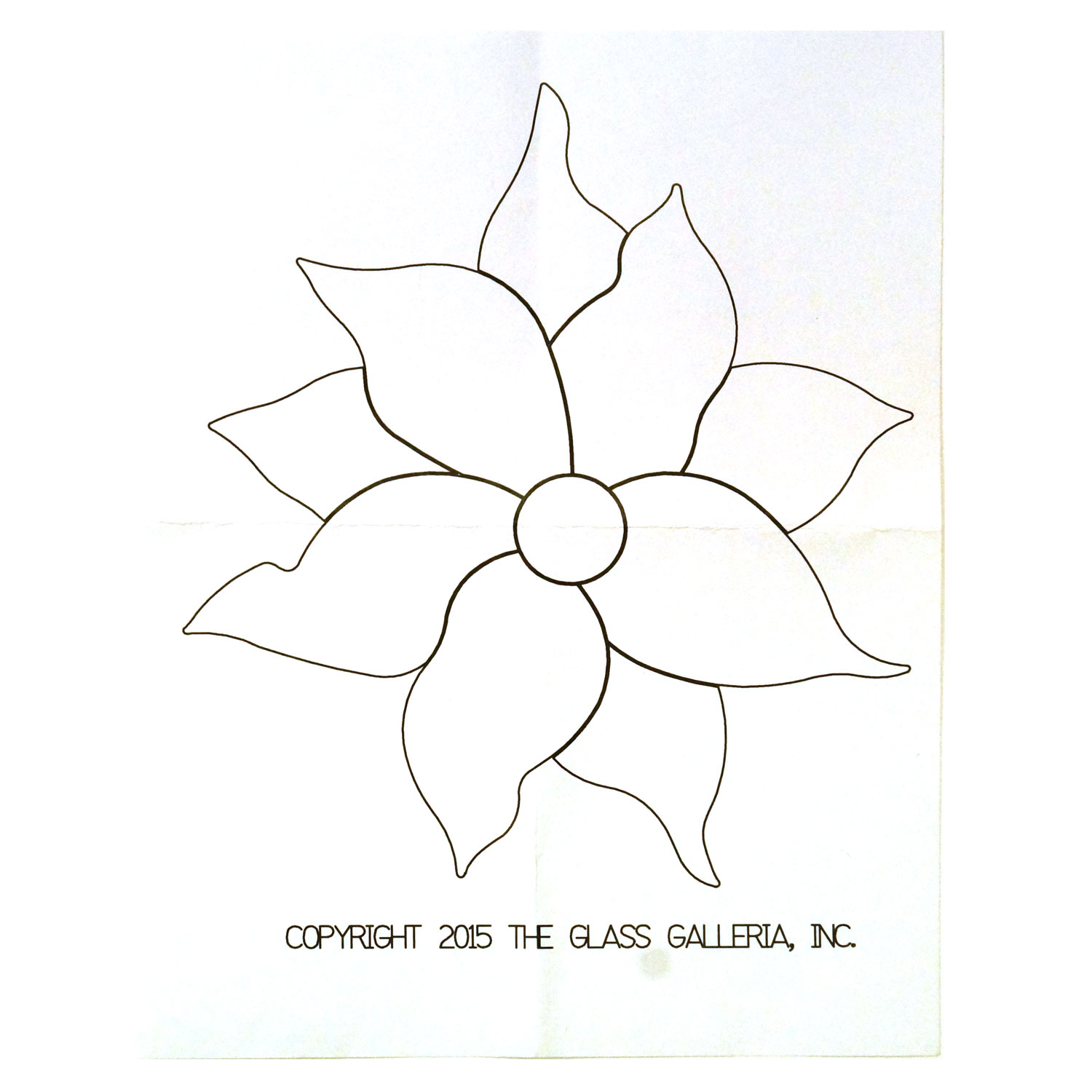 poinsettia flower fusible pre-cut