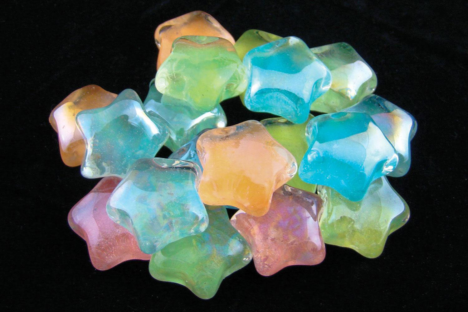 Glow In The Dark Glass Stars 1 5 Lb Gems Delphi
